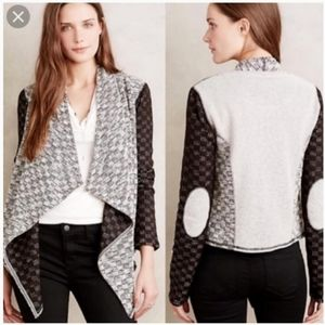 ANTHROPOLOGIE Open Front Draped Cardigan Sweater